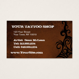 CUSTOMIZABLE Tattoo Brown BC Business Card