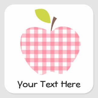 Customizable Teacher Apple Square Sticker