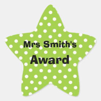 customizable teacher's award stickers