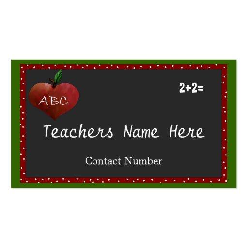 Customizable Teachers Business Card