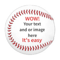Customizable Template Make Your Own Baseball