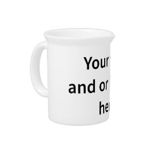 Customizable Template Make Your Own Pitcher