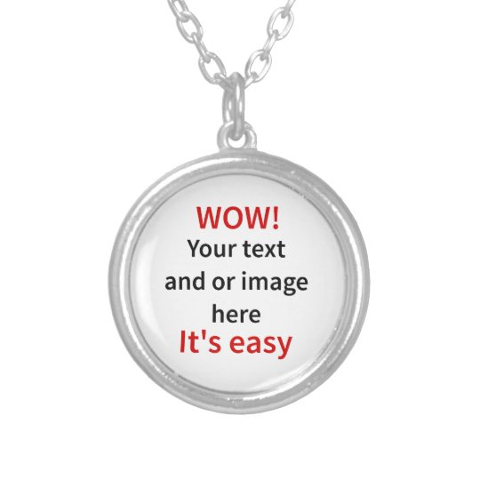 customizable template make your own silver plated necklace zazzle com