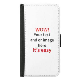 Customizable Template Make Your Own Wallet Phone Case For Samsung Galaxy S5