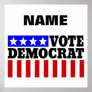 Customizable template Vote Democrat Poster