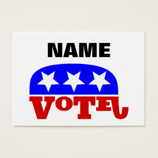 Customizable template Vote Republican Elephant Business Card