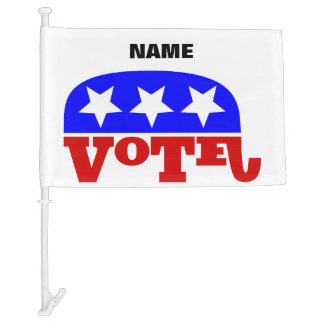 Customizable template Vote Republican Elephant Car Flag