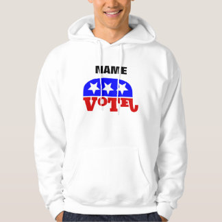 Customizable template Vote Republican Elephant Hoodie