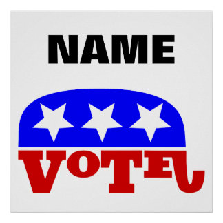 Customizable template Vote Republican Elephant Poster