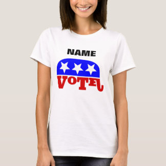 Customizable template Vote Republican Elephant T-Shirt