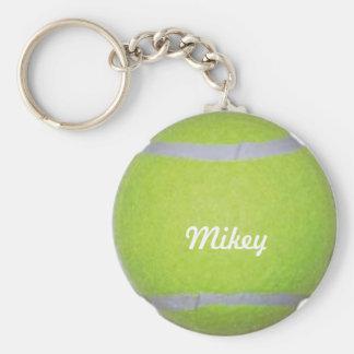 Customizable Tennis Ball Basic Round Button Keychain