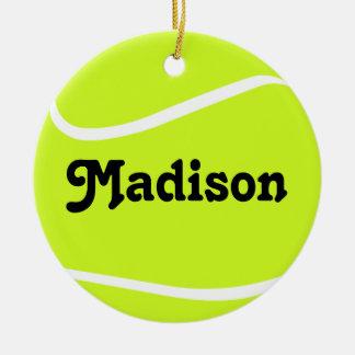 Customizable Tennis Ball Christmas Ornament