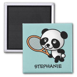 Customizable Tennis Playing Panda Magnet