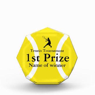 Customizable tennis trophy award