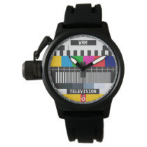 Customizable Test Card Tv Pattern Watch