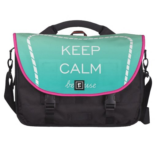 Customizable text and photo in trendy bag laptop bags