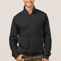 Customizable Text, Business Name Fleece Zip Jogger Jacket