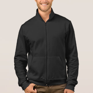 Customizable Text, Business Name Fleece Zip Jogger Jacket