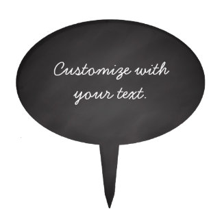 Customizable text chalkboard cake picks