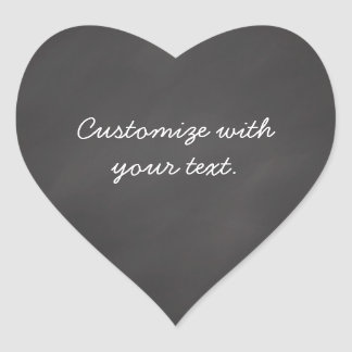 Customizable text chalkboard heart sticker