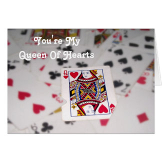 Customizable Text / Queen Of Hearts Card
