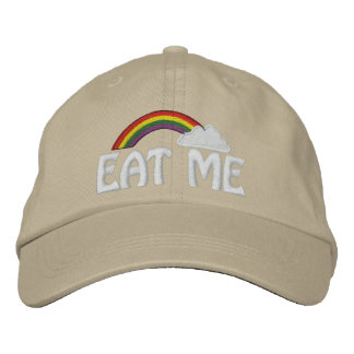 Customizable Text Rainbow Cap - Eat Me