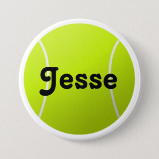 Customizable Text Tennis Ball for Players & Fans Pinback Button