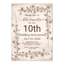 Customizable Text Wedding Anniversary Flower Invitation