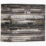 Customizable Text Wooden Logs Binders