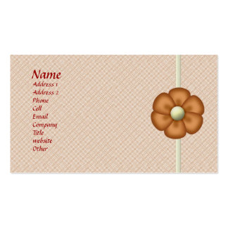 Customizable Textured Flower Biz Card Double-Sided Standard Business Cards (Pack Of 100)