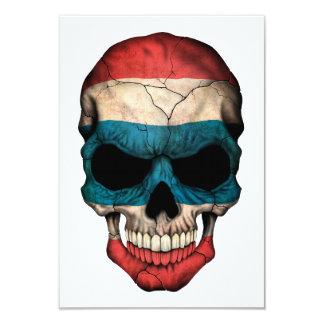 "Customizable Thai Flag Skull 3.5"" X 5"" Invitation Card"