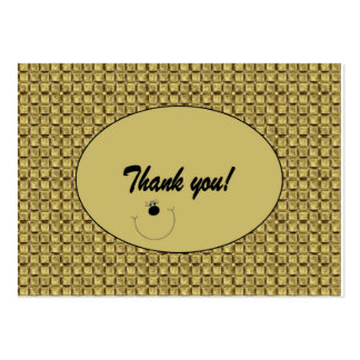 "Customizable ""Thank you"" Card / Tag (100) Large Business Card"