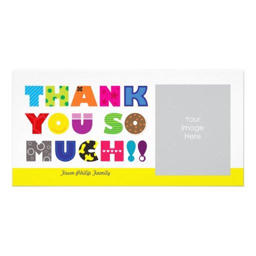 Customizable Thank You Photo Card