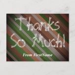 "[ Thumbnail: Customizable ""Thanks So Much!"" Postcard ]"