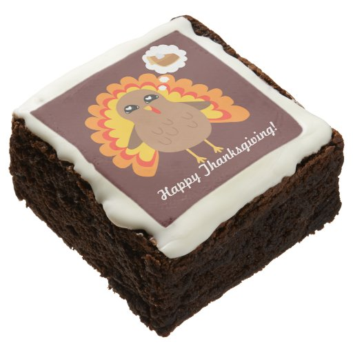 Customizable Thanksgiving Brownie