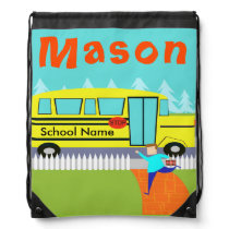 Customizable the Catching School Bus Backpack