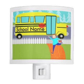Customizable the Catching School Bus Night Light
