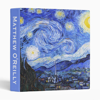 Customizable The Starry Night by Van Gogh Binder