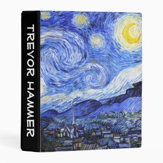 Customizable The Starry Night Van Gogh Mini Binder