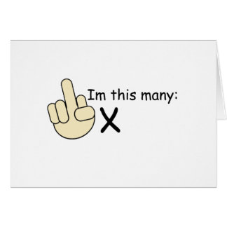 """Customizable """"this many"""" Funny Birthday Design Card"""