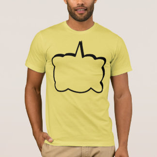 Customizable Thought Bubble Comic Book Phrase T-Shirt