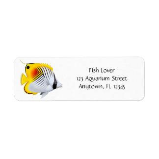 Customizable Threadfin Butterflyfish Label