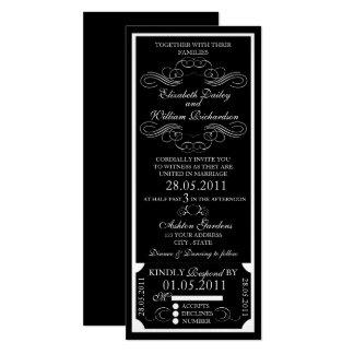 Customizable Ticket Invitation - Curl Design