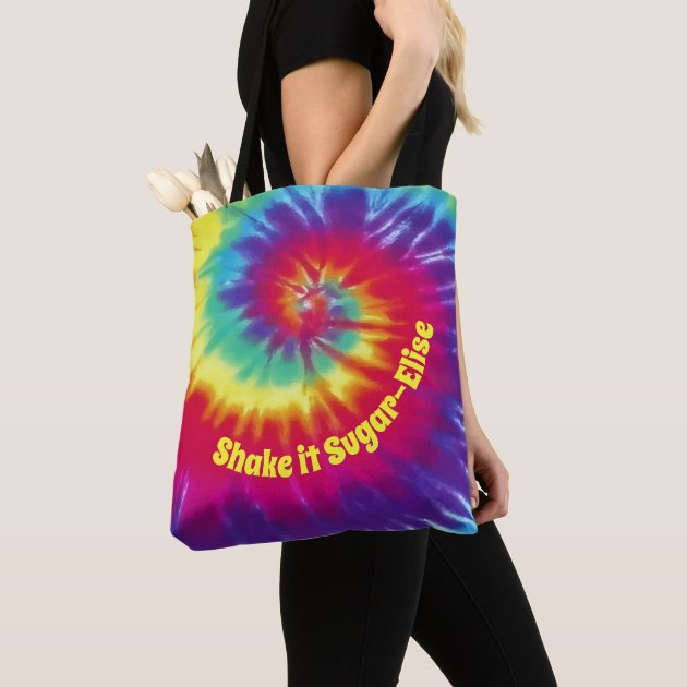 Tie Dye Kaleidescope-Purple Peace Symbol Gym Bag