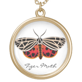 Customizable Tiger Moth Necklace