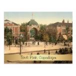 Customizable Tivoli Park Entrance Copenhagen Postcard