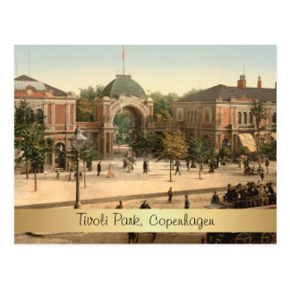 Customizable Tivoli Park Entrance Copenhagen Postcard