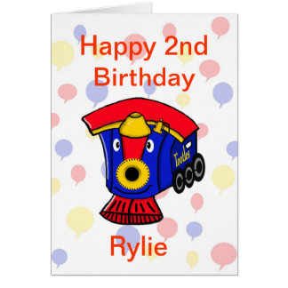 Customizable TOOTLES Steam Engine Birthday Card