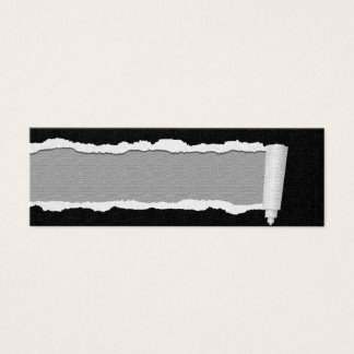 Customizable Torn Paper Unisex Business Cards