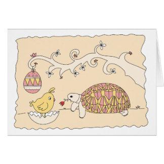 Customizable Tortoise Easter Card 2